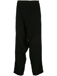 Julius Dropped Crotch Tailored Style Trousers Black