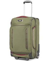 High Sierra At8 22 Wheeled Duffel Olive