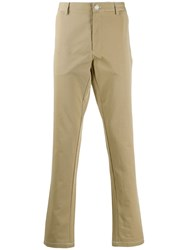 Burberry Contrasting Stitches Trousers Neutrals