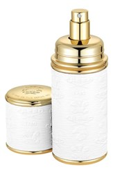Creed White With Gold Trim Leather Atomizer No Color