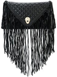 Thomas Wylde Fringed Quilted Clutch Black
