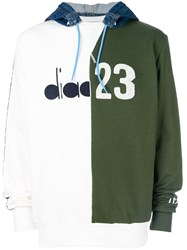 Diadora Colour Block Hooded Sweatshirt Green