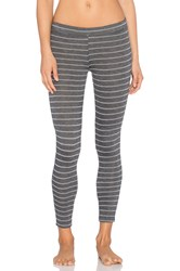 Eberjey Eberjej Ticking Stripes Legging Gray