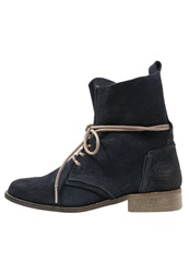 Dockers By Gerli Laceup Boots Navy Blue