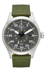Men's Ball 'Engineer Master Ii Aviator' Woven Strap Watch 46Mm