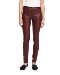 Theory Adbelle L2 Bristol Leather Leggings Garnet