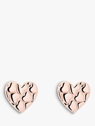 Ted Baker Harloa Heart To Heart Stud Earrings Rose Gold