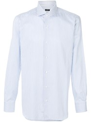 Barba Classic Striped Shirt Cotton Blue