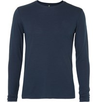 Iffley Road Sandown Merino Wool Blend Base Layer Blue