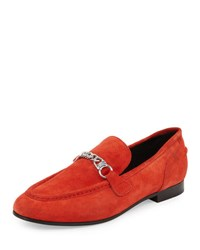 Rag And Bone Cooper Suede Chain Loafer Red