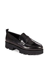 Ash Leather Penny Loafers Black