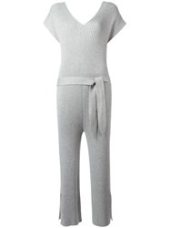 Designers Remix Ribbed Jumpsuit Grey