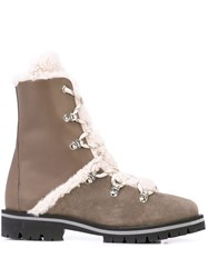 Yves Salomon Shearling Lace Up Boots 60