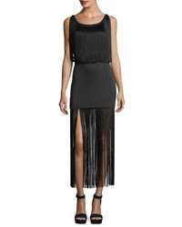 eff45d2d6f0 Neiman Marcus. Save. Haute Hippie Backstage Sleeveless Fringe Silk Cocktail  Dress Black