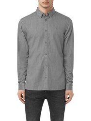 Allsaints Caligula Slim Fit Shirt Grey