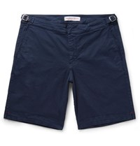 Orlebar Brown Dane Stretch Cotton Twill Shorts Navy