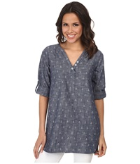 Hatley Classic Tunic Chambray Anchors Women's Clothing Gray