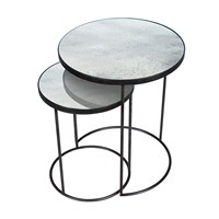 Notre Monde Nesting Side Table Set Clear
