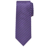 Chester Barrie By Chevron Zigzag Silk Tie Navy Purple