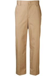 Msgm Straight Leg Trousers Neutrals