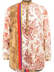 Pierre Louis Mascia Printed Henley Shirt Multicolour