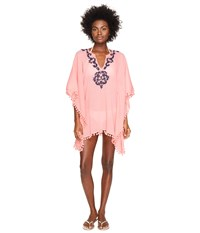 Letarte Embroidered Poncho Pink Coral Women's Swimwear
