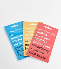 Anatomicals Asos Exclusive Face Mask Pack X 3 Face Mask Clear