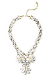 Baublebar Women's Malana Shell Statement Necklace Howlite White