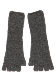 Isabel Benenato Wool Knit Fingerless Gloves