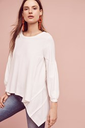 Anthropologie Petite Bell Sleeve Top Ivory