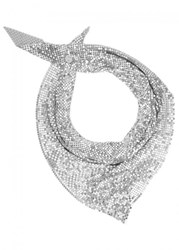 Paco Rabanne Silver Tone Chainmail Scarf