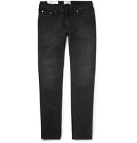 Acne Studios Thin Skinny Fit Stretch Denim Jeans Black