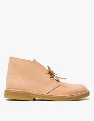 Clarks Desert Boot In Tan Leather