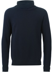 Paolo Pecora Cowl Neck Sweater Blue