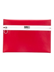 Maison Martin Margiela Mm6 Synthetic Leather Clutch Women Leather One Size Red