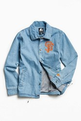 Starter X Uo Mlb San Francisco Denim Coach Jacket Indigo