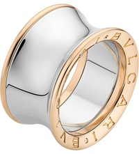 Bulgari Anish Kapoor B.Zero1 18Ct Pink Gold And Stainless Steel Ring