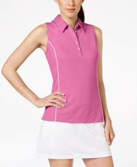 Pga Tour Sunflux Upf Protection Airflux Sleeveless Polo Shirt Super Pink