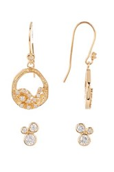Melinda Maria Emma Baby Cluster Earrings Set White