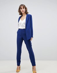 Selected Femme Split Hem Trouser Blue Depths