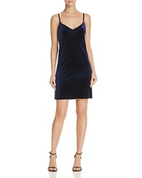 Necessary Objects Velvet Slip Dress Compare At 88 Navy