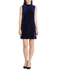 Bcbgeneration Contrast Back Sleeveless Shift Dress Navy