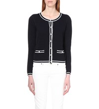Claudie Pierlot Myfair Knitted Cardigan Marine