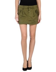 Truenyc. Mini Skirts Military Green