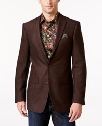Tallia Big And Tall Men's Herringbone Sport Coat Brown