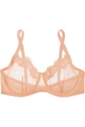 Mimi Holliday Comfort Tulle And Lace Underwired Bra Pastel Orange