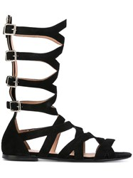 Twin Set Strapped Sandals Women Leather Suede 39 Black