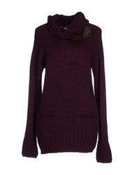 Blugirl Folies Knitwear Turtlenecks Women Maroon