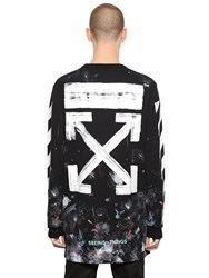 Off White Galaxy Arrows And Stripes Jersey T Shirt