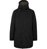 Aspesi Faux Shearling Lined Shell Parka Black